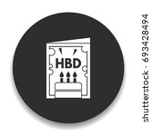 birthday card icon | Shutterstock .eps vector #693428494