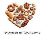 top view studio shot of a heart ... | Shutterstock . vector #693432949