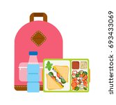the concept of a healthy...   Shutterstock .eps vector #693433069