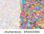 ice cream cartoon doodle design.... | Shutterstock .eps vector #693433483
