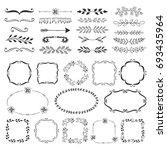 flourish borders  dividers ... | Shutterstock .eps vector #693435964