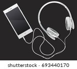 white black phone with the... | Shutterstock .eps vector #693440170