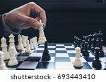 close up of hands confident... | Shutterstock . vector #693443410
