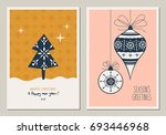 set of decorative christmas... | Shutterstock .eps vector #693446968