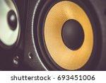 high quality loudspeakers in dj ... | Shutterstock . vector #693451006