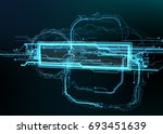 technological background of... | Shutterstock . vector #693451639