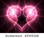 bright electric current heart... | Shutterstock . vector #69345268