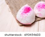 two steamed bun  chinese buns ... | Shutterstock . vector #693454603