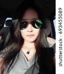 girl is blurry | Shutterstock . vector #693455089