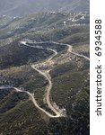 Aerial Of Winding Scenic Road...