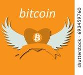 bitcoin cripto currency... | Shutterstock .eps vector #693459760