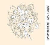 wedding bunch | Shutterstock .eps vector #69346009