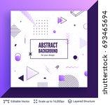 abstract avangarde retro... | Shutterstock .eps vector #693465694