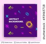 abstract avangarde retro... | Shutterstock .eps vector #693465718