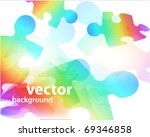 abstract puzzle shape colorful   Shutterstock .eps vector #69346858