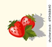 vector strawberry colorful... | Shutterstock .eps vector #693468640