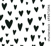 vector kids pattern with hearts.... | Shutterstock .eps vector #693471046