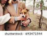 young happy romantic couple... | Shutterstock . vector #693471544