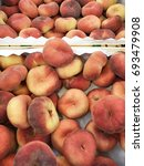 Small photo of fig peaches. fig peach close up. set of fig peaches. fig peach harvest