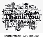 thank you word cloud background ... | Shutterstock .eps vector #693486250
