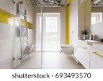 luxury stylish bathroom with... | Shutterstock . vector #693493570