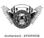 abstract vector illustration... | Shutterstock .eps vector #693494038