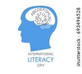international literacy day... | Shutterstock .eps vector #693496528