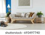 comfortable cozy sofa  rug ... | Shutterstock . vector #693497740