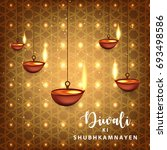 happy diwali wallpaper design... | Shutterstock .eps vector #693498586
