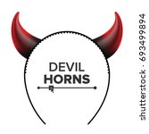 devil horns vector. head gear.... | Shutterstock .eps vector #693499894