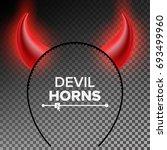 devil horns vector. head gear.... | Shutterstock .eps vector #693499960