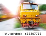 the old train head used to drag ... | Shutterstock . vector #693507793