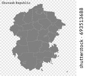 high quality map of chuvash... | Shutterstock .eps vector #693513688