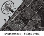 black   white vector map of...   Shutterstock .eps vector #693516988