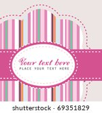 lovely colorful pink card   Shutterstock .eps vector #69351829