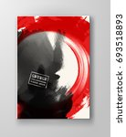 red and black abstract... | Shutterstock .eps vector #693518893