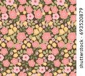 flowery shabby chic pattern in... | Shutterstock .eps vector #693520879