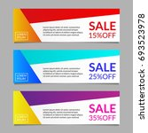 sale and discount banner design ... | Shutterstock .eps vector #693523978
