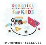 vector cartoon illustration of...   Shutterstock .eps vector #693527788