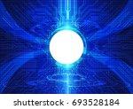 vector abstract blue hi tech... | Shutterstock .eps vector #693528184