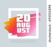 20 august. vector clip art...