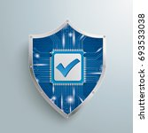 digital protection shield with... | Shutterstock .eps vector #693533038