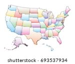 vector map of the united states ... | Shutterstock .eps vector #693537934