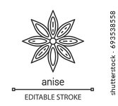 anise linear icon. thin line... | Shutterstock .eps vector #693538558
