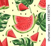 seamless pattern with... | Shutterstock .eps vector #693538774
