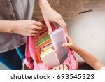 cropped shot of mother and... | Shutterstock . vector #693545323