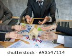 working as a teamwork of real...   Shutterstock . vector #693547114