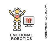 icon emotional robotics. the... | Shutterstock .eps vector #693550294