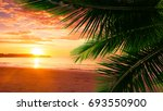 sea beach. vacation and tourism ... | Shutterstock . vector #693550900