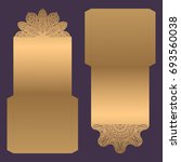 paper lace envelope template ... | Shutterstock .eps vector #693560038